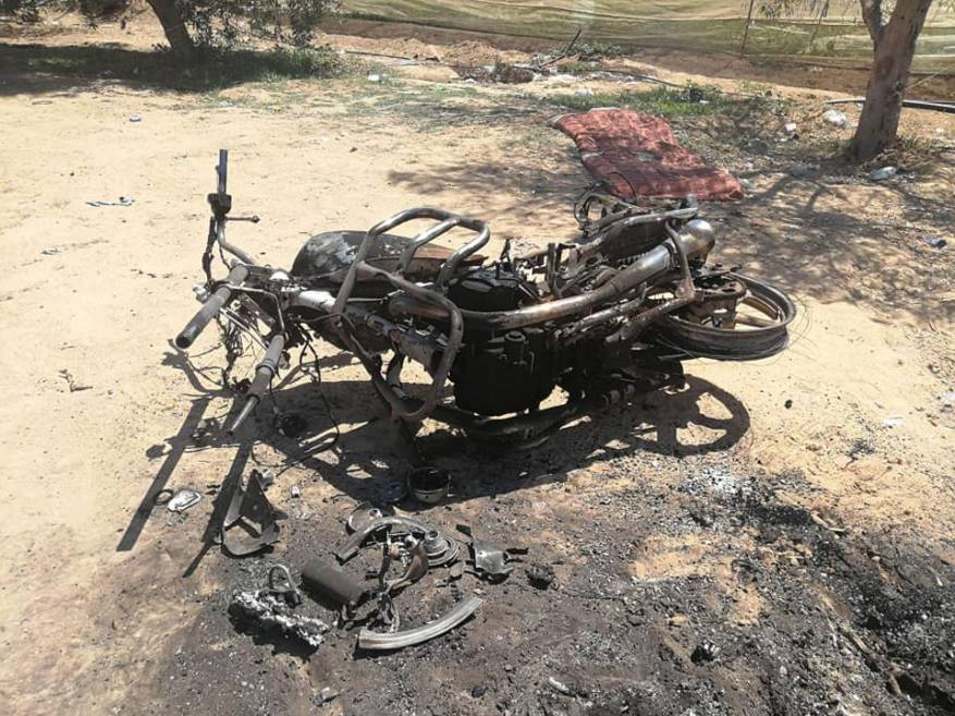 Motorbike attacked by Israeli Air Force aircraft (Filastin al-A'an, June 15, 2018).