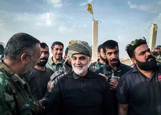Qassem Soleimani and fighters of the Nujaba Movement in Albukamal (Araby 21, November 16, 2018)