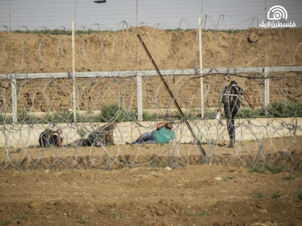 Attempts to sabotage the security fence in the eastern Gaza Strip (Facebook page of Palestine Live, June 23, 2018).