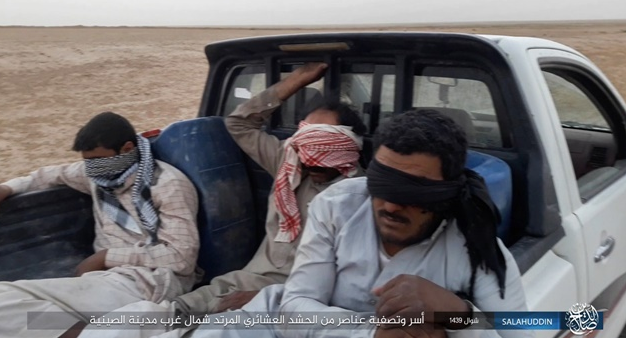 Tribal Mobilization operatives captured by ISIS.