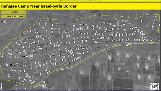 Dozens of displaced persons camps near the border between Israel and Syria (ImageSat International - ISI)