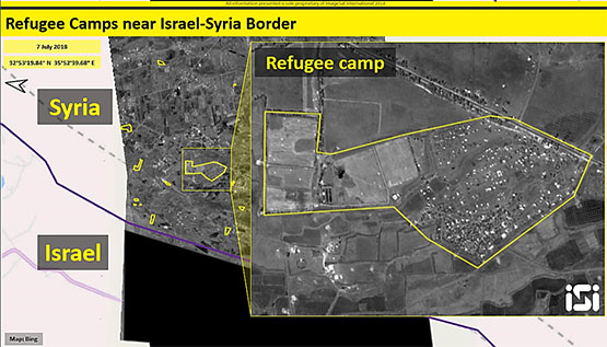 Displaced persons camps near the Syrian-Israeli border (ImageSat International - ISI)