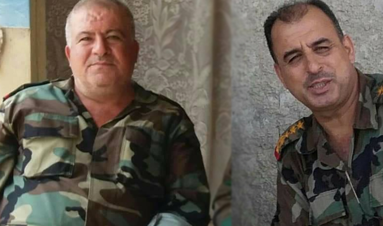 Liwa (Maj.-Gen.) Yusuf Mohammad Ali and Liwa (Maj. Gen.) Imad Adnan Ibrahim from the Syrian army who were killed in the fighting against the rebel forces in the rural area of Daraa (Enab Baladi, July 1, 2018)