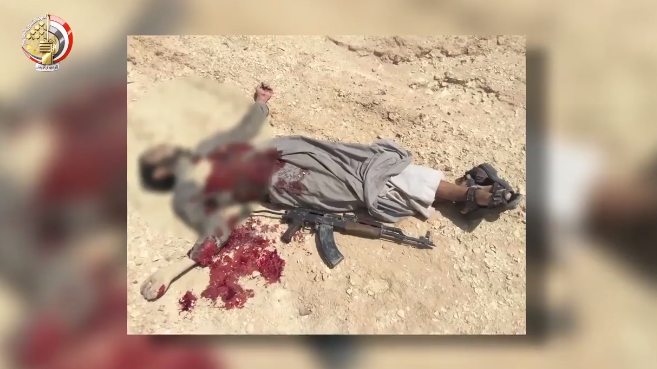 "Body of a ""terrorist operative"" killed in Sinai."