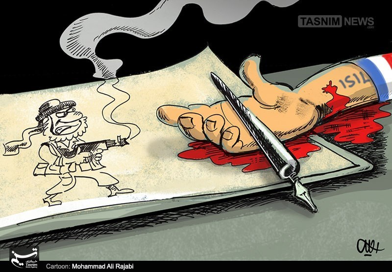 Caricatures presented in the second competition of caricatures about the Holocaust (2015), which Owj Organization took part in financing. (Tasnim, January 19, 2015; Difaa Fars, January 19, 2015)