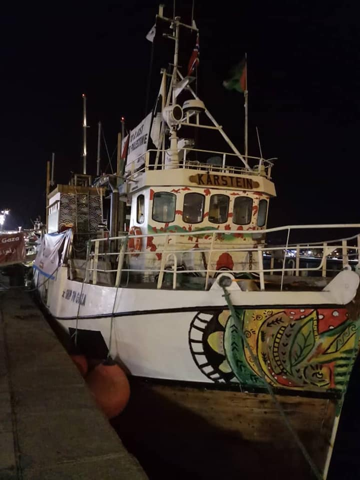 The al-Awda in the Corsican port of Ajaccio (Facebook page of Nabi Habri, July 9, 2018)