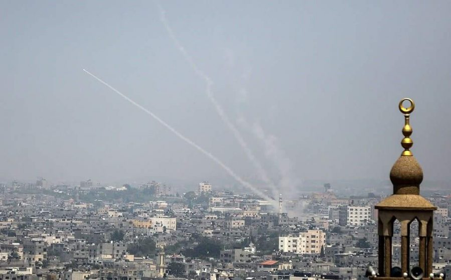 Firing rockets from the Gaza Strip into Israel. They are launched from within civilian population centers (Palinfo Twitter account, July 14, 2018).