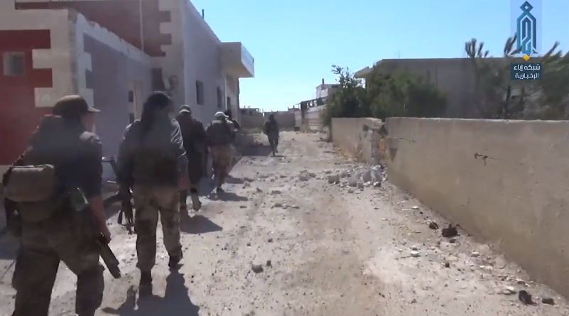 Operatives of the Headquarters for the Liberation of Al-Sham in the village of Mashara.