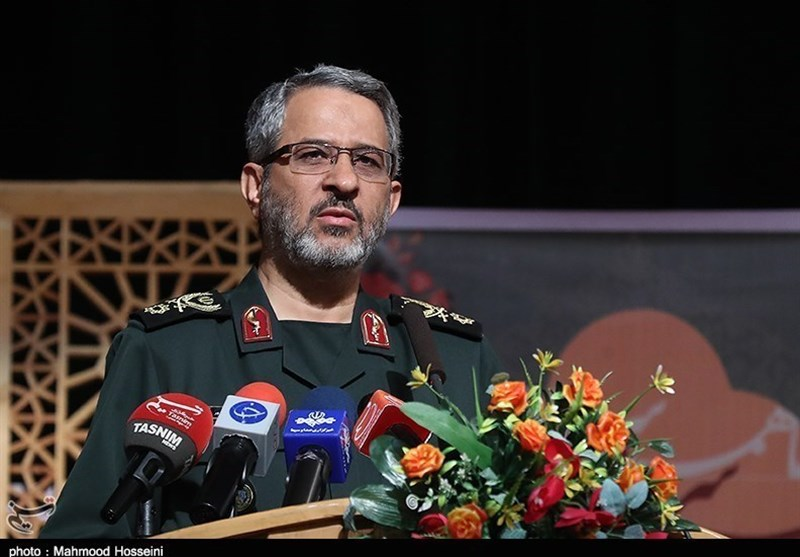 commander of the Basij force of the IRGC in a pre-recorded speech to a conference in Gaza (Tasnim, July 16 2018).
