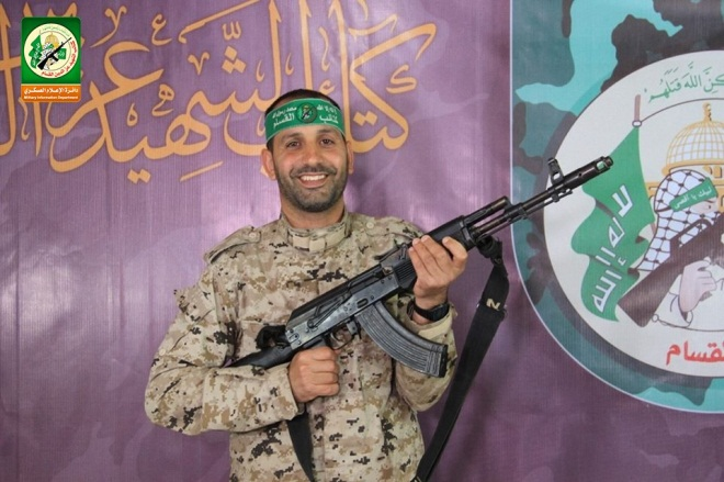 Abd al-Karim Isma'il Radwan, an operative in Hamas' military wing (Twitter account of Hamas' military wing, July 19, 2018).