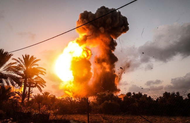 IDF attack on the al-Rawdha post in eastern Gaza City