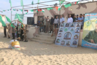 sit by the Hamas leadership in the Khan Yunis Province and a display by the trainees