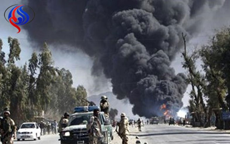 The scene of the attack in Jalalabad (Al-Alam, July 28, 2018)