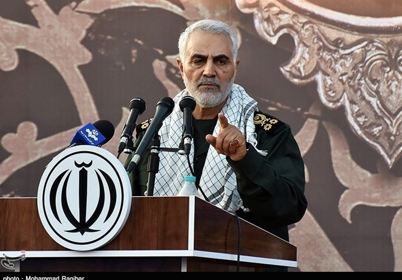 Qasem Soleimani during his speech in Hamadan (Tasnim, July 26 2018).