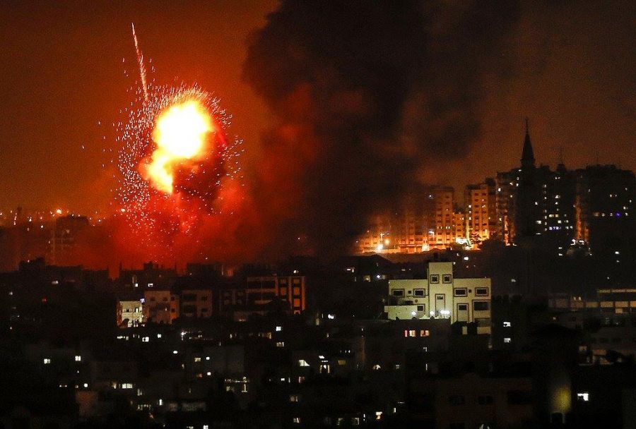 IDF attack on the night of August 8, 2018