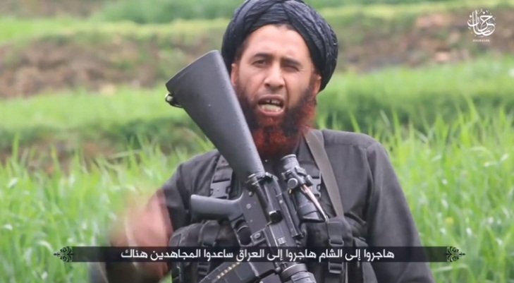 Operative codenamed Mansur al-Khorasani, a leg amputee, calling on Muslims who are unable to immigrate to Syria or Iraq to immigrate to the Khorasan Province and help jihad fighters (Al-Ghurabaa ISIS-affiliated website, August 12, 2018).