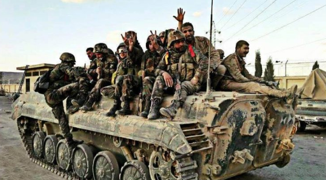 Syrian army reinforcement on its way to the Idlib front (Muraselon, August 18, 2018)