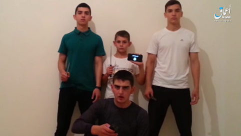 The four boys who carried out the attacks in Chechnya.