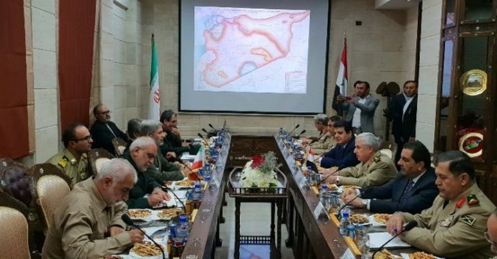 The meeting of the delegations representing the Syrian and Iranian ministries of defense (ISNA, August 26 2018).