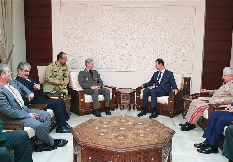 Hatami's meeting with President Assad (ISNA, August 26 2018).
