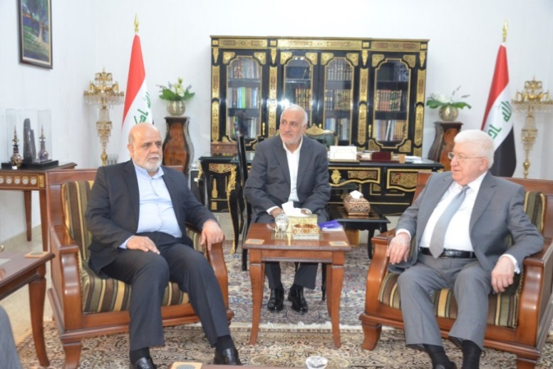 The meeting between the Iraqi president and the Iranian ambassador in Baghdad (Entekhab, August 27 2018).