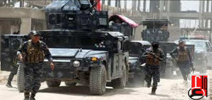 Iraqi police force during security activity (Iraqi News Agency, August 31, 2018)