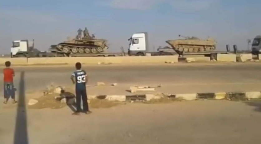 Syrian army APC's en route to northern Syria (Muraselon, September 10, 2018)