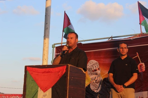 Fathi Hamad speaking in eastern Gaza City (palsawa.com, September 14, 2018).