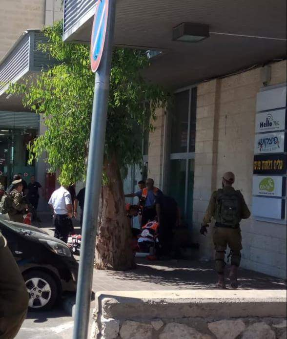 Scene of the stabbing attack in Gush Etzion (PALINFO Twitter account, September 16, 2018).