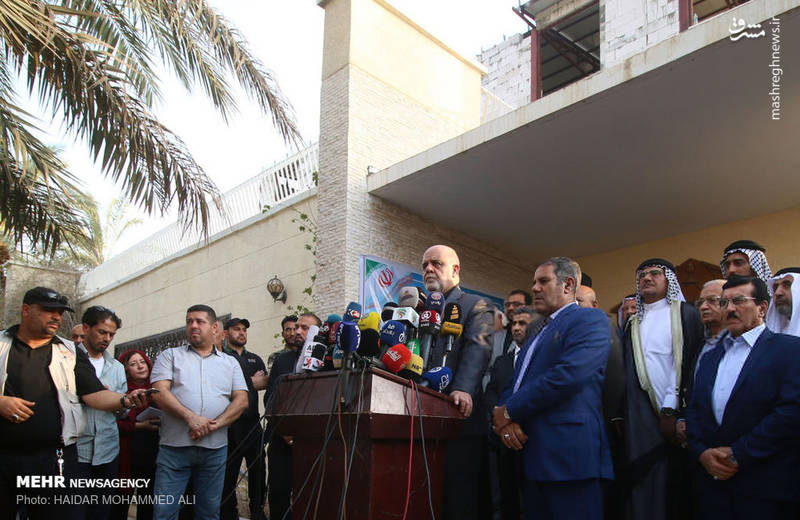 Iran's ambassador to Baghdad inagurates the new Iranian consulate in Basra (Mehr, September 12, 2018)