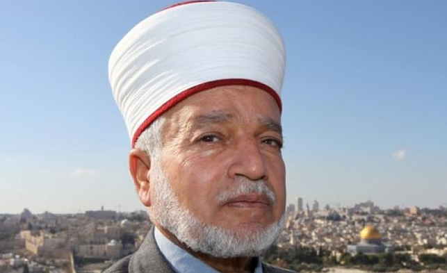 Grand Mufti of Jerusalem and the Palestinian Authority Sheikh Muhammad Hussein, who has issued a fatwa banning participation in the municipal elections (photo: Al-Ghad, July 14, 2017)