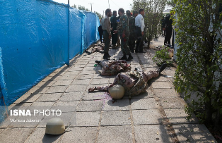 Bodies of soldiers killed in the attack (shabnamnezami@ShabnamNezami Twitter account, September 22, 2018)
