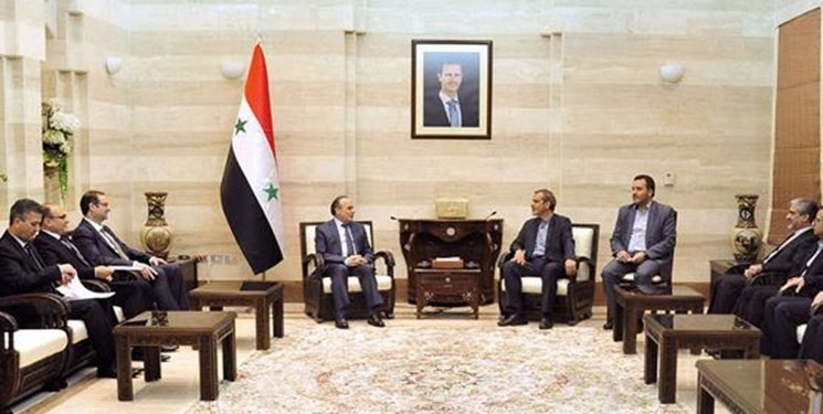 The meeting of the Iranian economic delegation with the Syrian prime minister (Fars, September 25 2018).