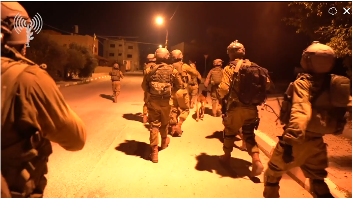 Israeli security forces conduct a search for the terrorist (IDF spokesperson, October 8, 2018).