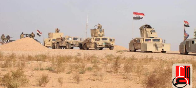 A column of Iraqi army vehicles during activity against ISIS (Iraqi News Agency, October 4, 2018)