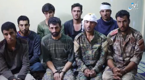 Eight SDF fighters captured by ISIS north and east of Hajin. Some of the prisoners were wearing civilian clothes (Amaq, October 13, 2018)