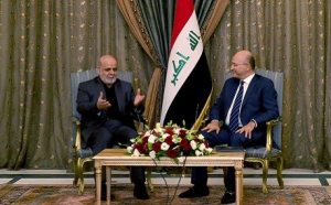 The meeting between the Iranian ambassador to Baghdad and the Iraqi president (Fars, October 7 2018).