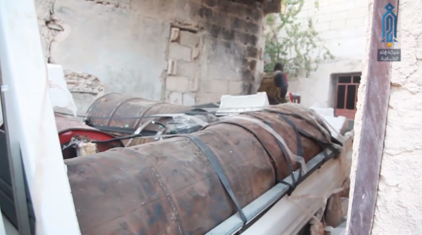 Four barrels of explosives that were on the truck bomb (Ibaa News Agency, October 19, 2018).