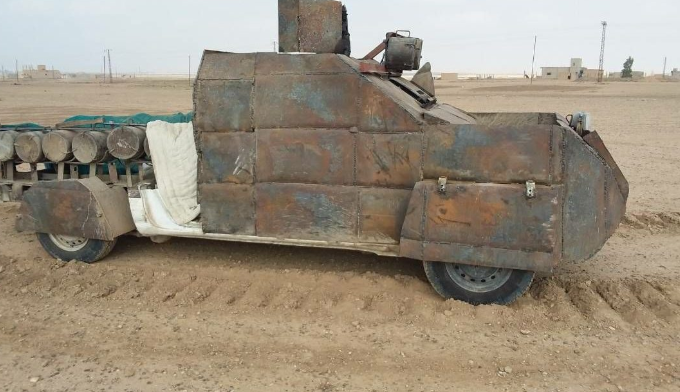 Car bomb whose driver was killed by SDF sniper fire south of Al-Susah (SDF Media Center, October 22, 2018)