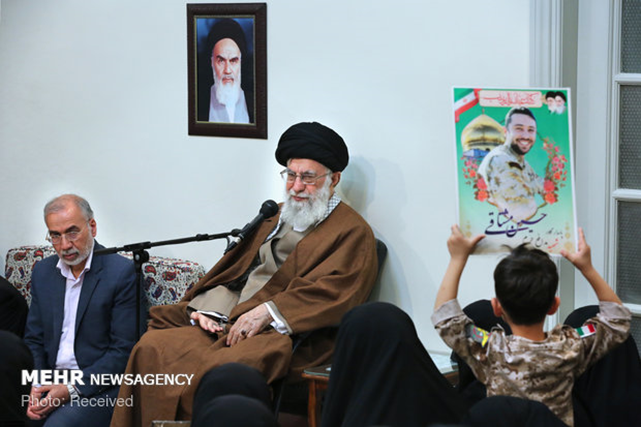 The Supreme Leader with relatives of IRGC fighters killed in Iraq and Syria (Mehr, October 24 2018).