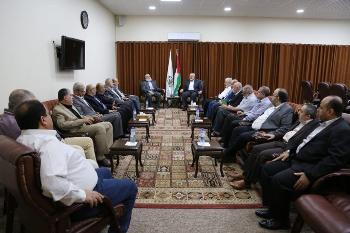 The leadership of Hamas and the PIJ meet to discuss the Egyptian initiative (Palinfo Twitter account, November 1, 2018).