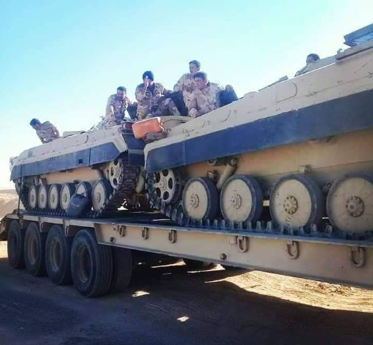 9th Division APCs en route to the Iraqi-Syrian border (Deir ez-Zor Now Twitter account, November 2, 2018)