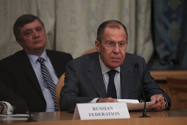 Russian Foreign Minister Sergei Lavrov speaking at the conference on Afghanistan (Russian Foreign Ministry website, November 9, 2018)