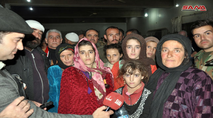The Druze abductees meeting their families (SANA, November 8, 2018)