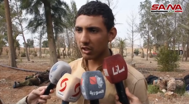 Interview with a 17-year-old ISIS operative codenamed Abu Abdallah Mayadeen, taken prisoner during the rescue (SANA, November 9, 2018).