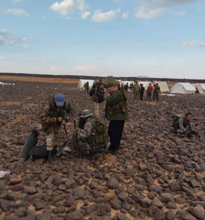 Uniformed fighters from the village of Khader (near the Syrian-Israeli border), who arrived at the Al-Safa area to join the Syrian army (Hassan Ridha's Twitter account, November 8, 2018)