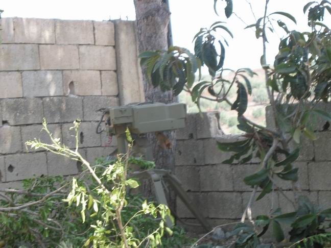 Launcher of anti-tank Kornet missiles, employed by Hezbollah in South Lebanon, at a firing position in the village of Ghandouriyah (ITIC publication, October 7, 2007).