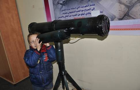 Kornet missile displayed in an exhibition in Rafah, where missiles (or replicas of missiles) used during Operation Pillar of Defense were presented by the PIJ (website of the Qods Battalions, December 26, 2012)