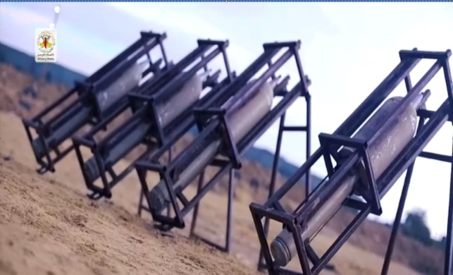 ‏‏Pictures from a video issued by the PIJ's military wing showing its operatives launching rockets at Israel during the most recent round of escalation (Jerusalem Brigades website,November 17, 2018).