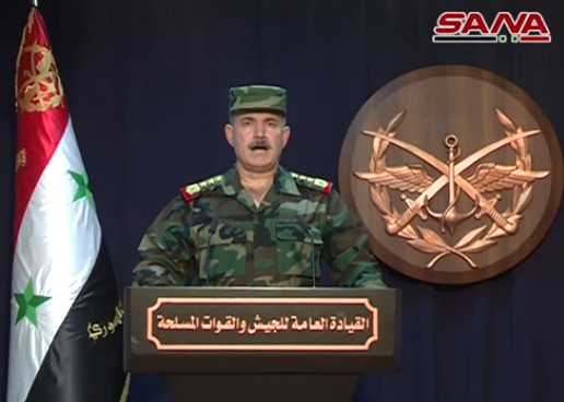 Spokesman for the General Headquarters of the Syrian army announces on November 19, 2018, the mopping up of the whole of southern Syria from terrorism, after achieving full control of the Al-Safa area, formerly held by ISIS (SANA, November 20, 2018)